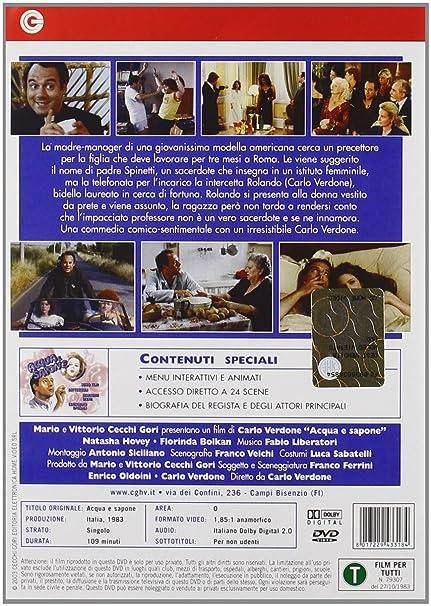 Acqua E Sapone (Dvd): Amazon.it: Carlo Verdone, Natasha Hovey ...
