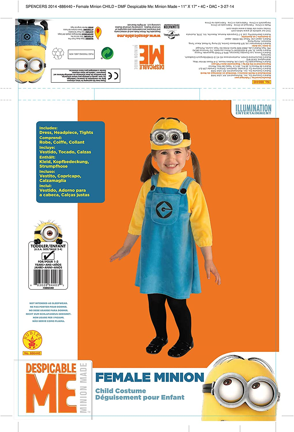 f557c23e7 Amazon.com  Despicable Me 2 Female Minion Costume
