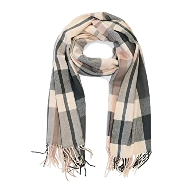 a0b6e9f3148df J.Crew Mercantile Women's Plaid Blanket Scarf (Pale Pink/Gray Plaid) at  Amazon Women's Clothing store
