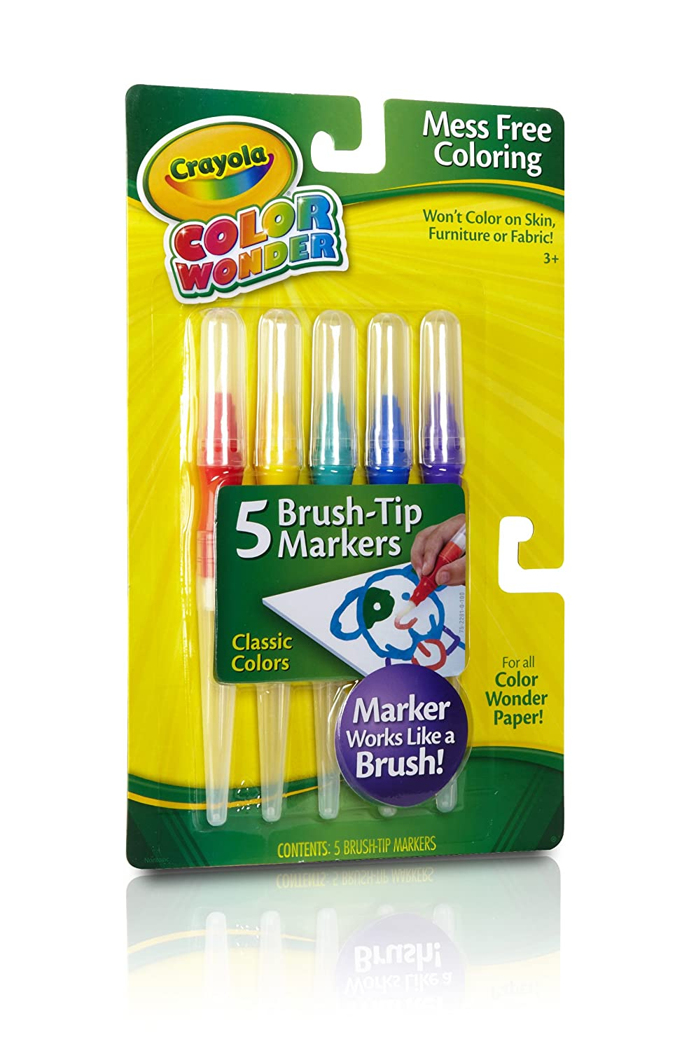 amazoncom crayola classic color wonder brush tip markers toys games - Skin Color Markers