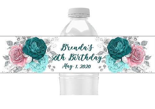 Floral Water Bottle Labels