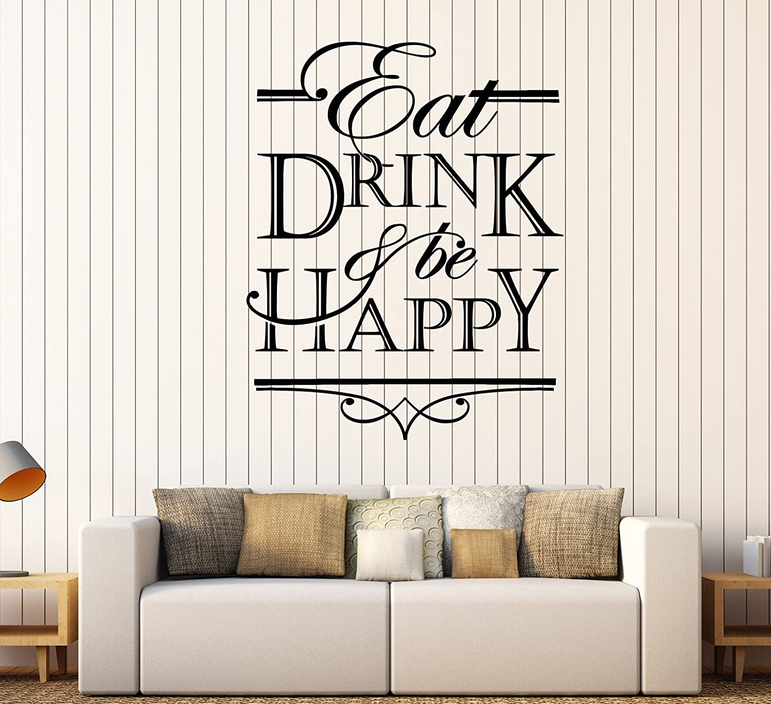 Amazon.com: Vinyl Wall Decal Quote Words Eat Drink And Be ...