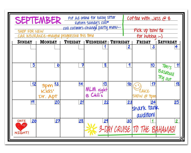 Smart Planner Magnetic Dry Erase Board Monthly Calendar Planner, 12 x 16-Inch
