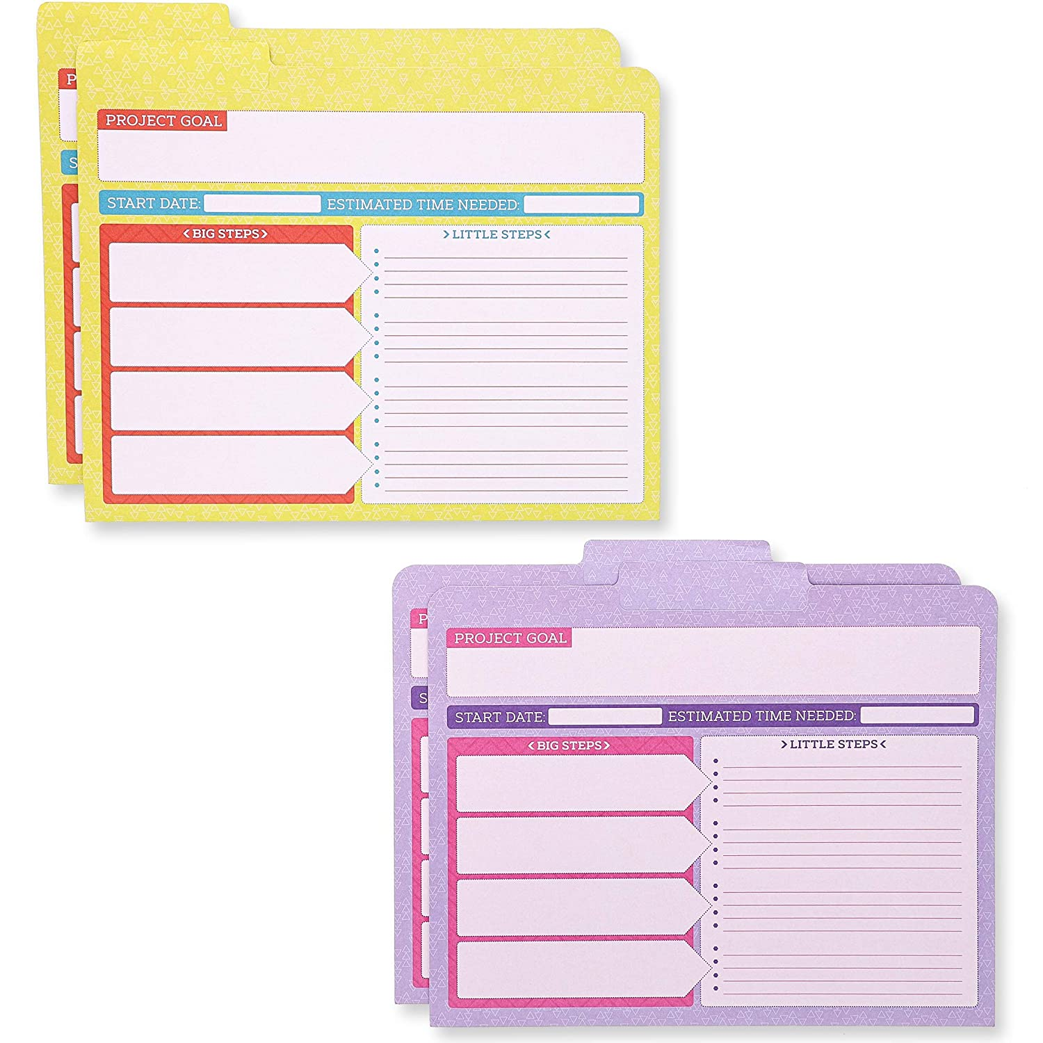 12 Pack Note Sections Paper Junkie Project File Folders with Tabs Letter Size