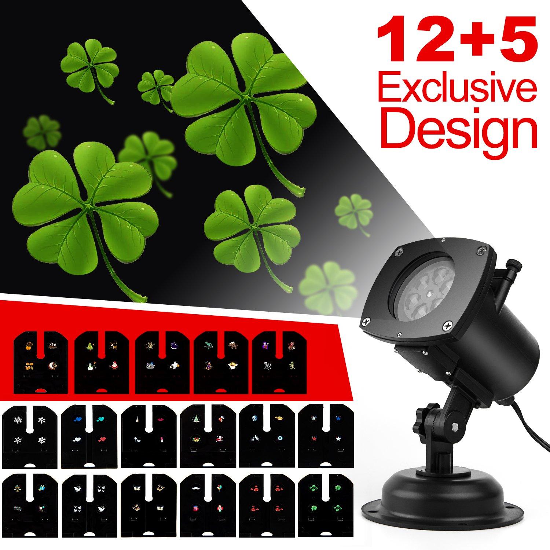 プロジェクターライトクリスマス、17交換可能ip65防水移動スライド回転Landscape LEDプロジェクターライトShowクリスマス誕生日ウェディングパーティーアウトドアインドアホームインテリア B01KV80NEI 15219