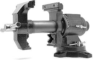 WEN MPV500 5-Inch Heavy-Duty Cast Iron Multi-Purpose Bench Vise with 360-Degree Swivel Base