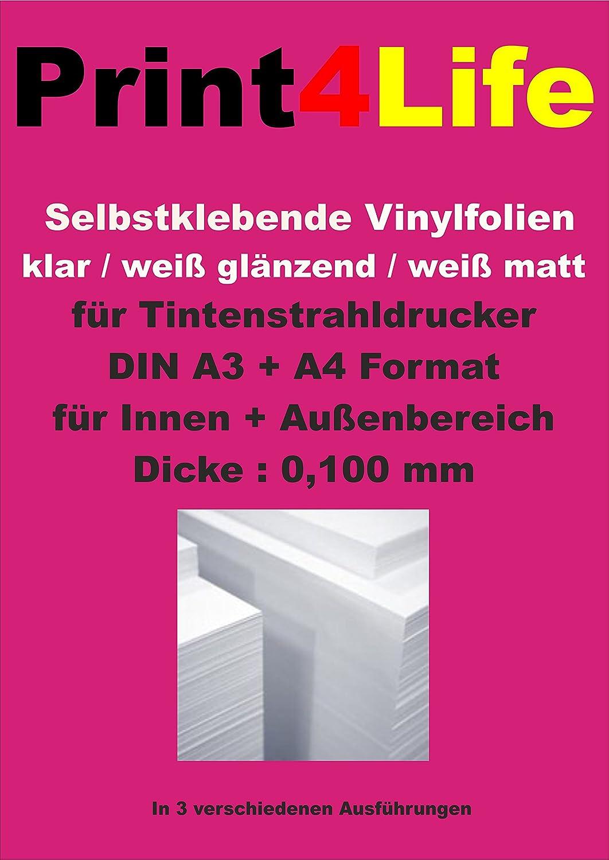 Print4Life OUTDOOR - Papel adhesivo para impresoras de ...