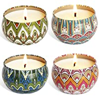 YIIA Fruity Scented Candles Gift Set, Natural Soy Wax Travel Tin Candle Stress Relief Aromatherapy with Sweet Odor 4…