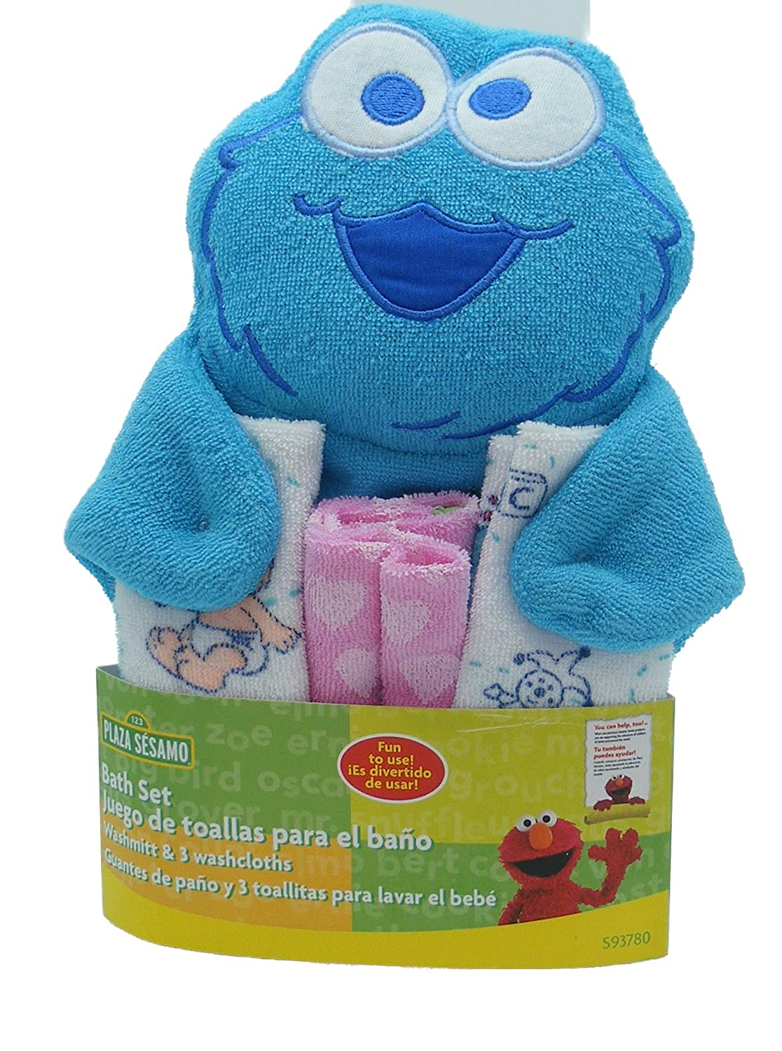 Amazon.com : Sesame Street Character Washmitt and Washcloths - styles and colors vary : Baby Washcloths : Baby