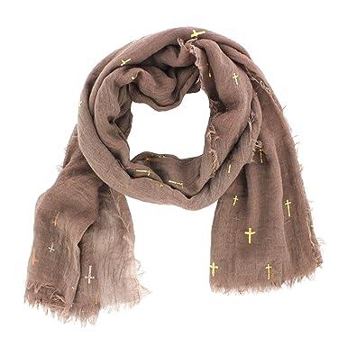 Mim - Foulard - Femme - Tu - Taupe  Amazon.fr  Vêtements et accessoires 7005a283bb1