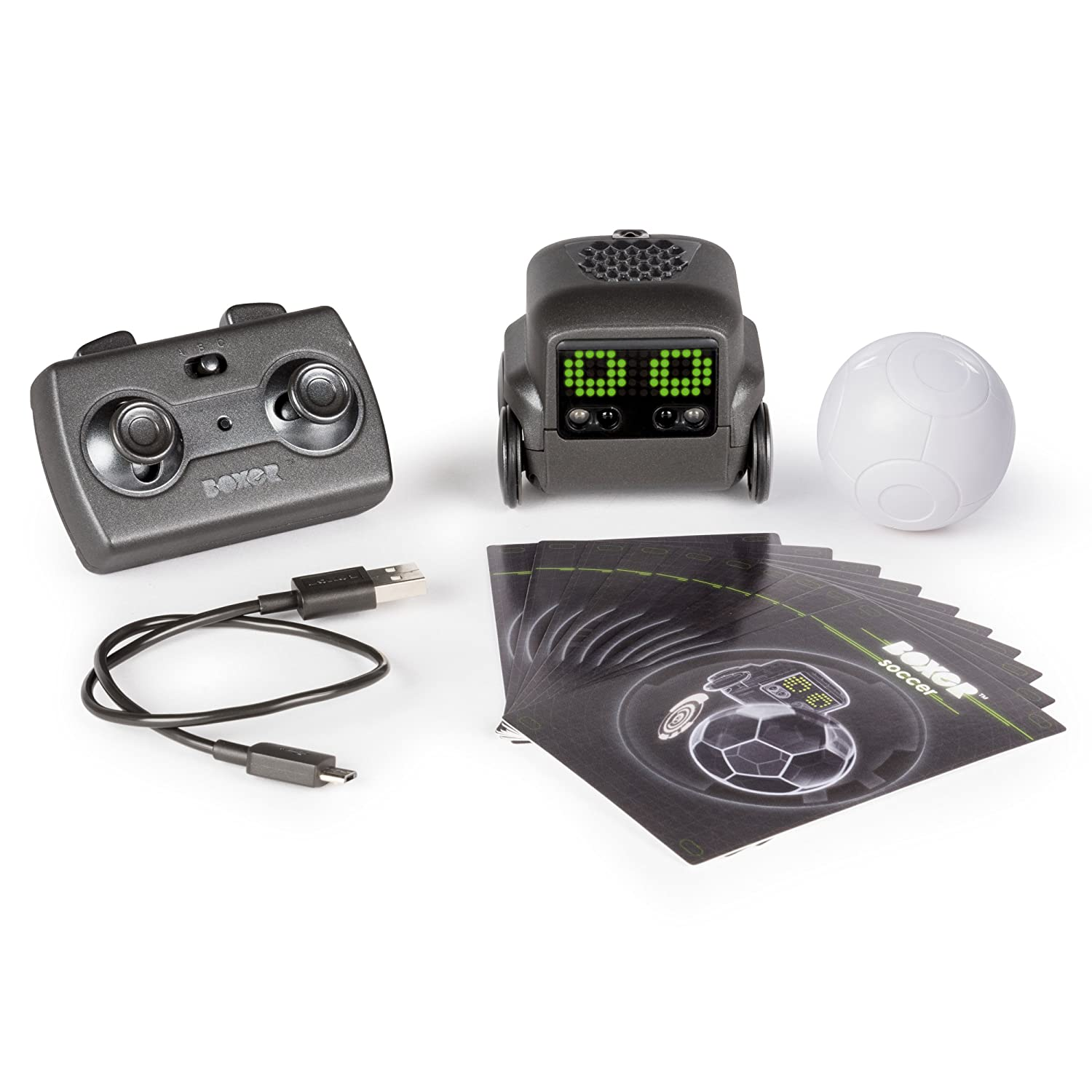 with Personality and Emotions Black for Ages 6 and Up Boxer /— Interactive AI Robot Toy