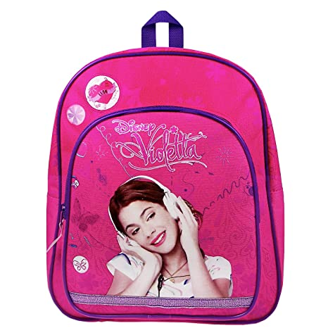 Disney Violetta - Escucha To Love Mochila con bolsillo delantero, 31 x 25 x 9
