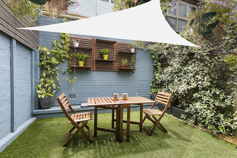 Campeggio terrazza Resistente e Traspirante Tende da Sole Varie Dimensioni per Giardino HMHD Vele Ombreggianti Bianco latte2x2x2m Rettangolare Schermo UV