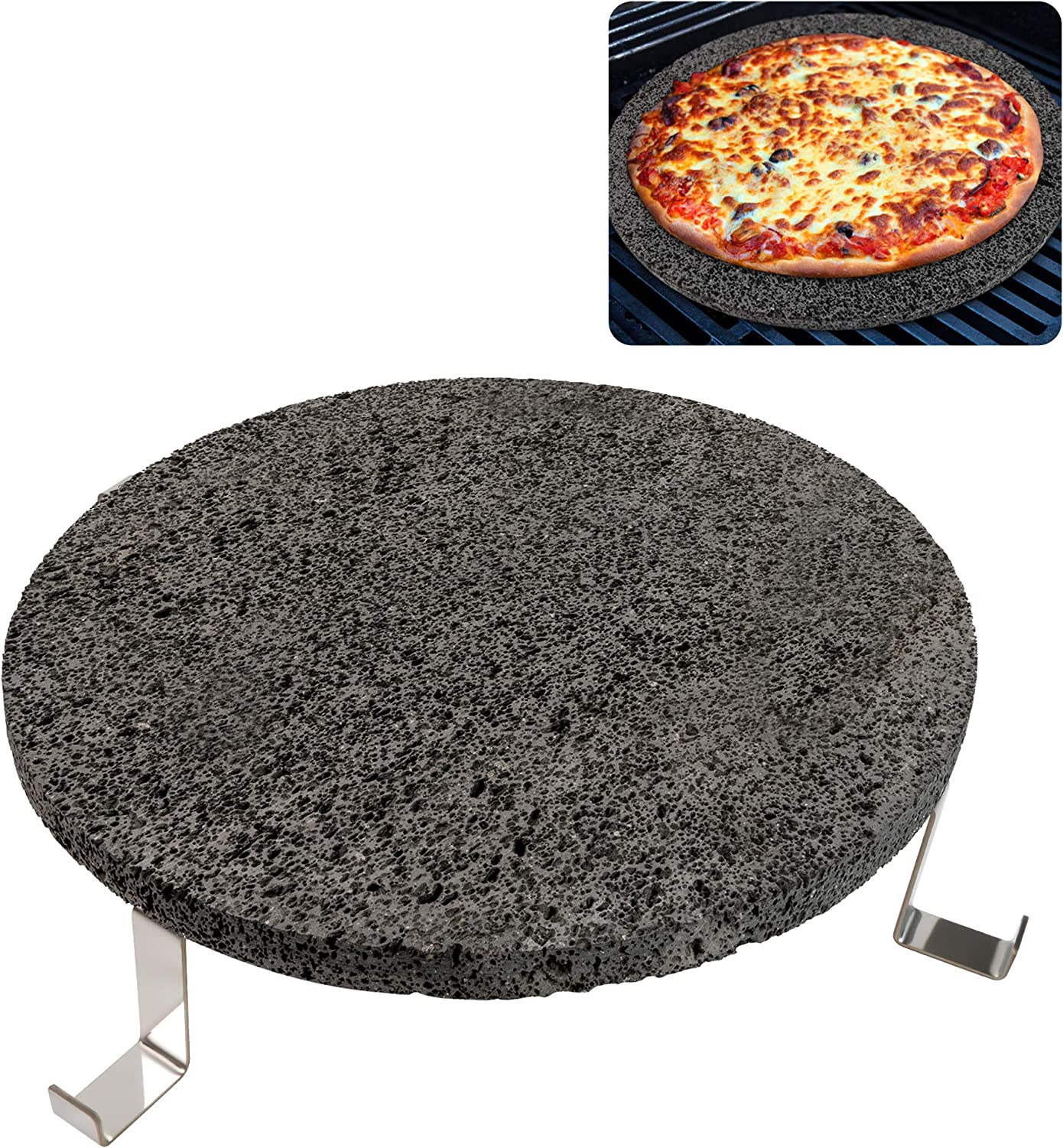 CHARAPID Lava Cooking Stone Set, Heat Deflector for Kamado Grilling