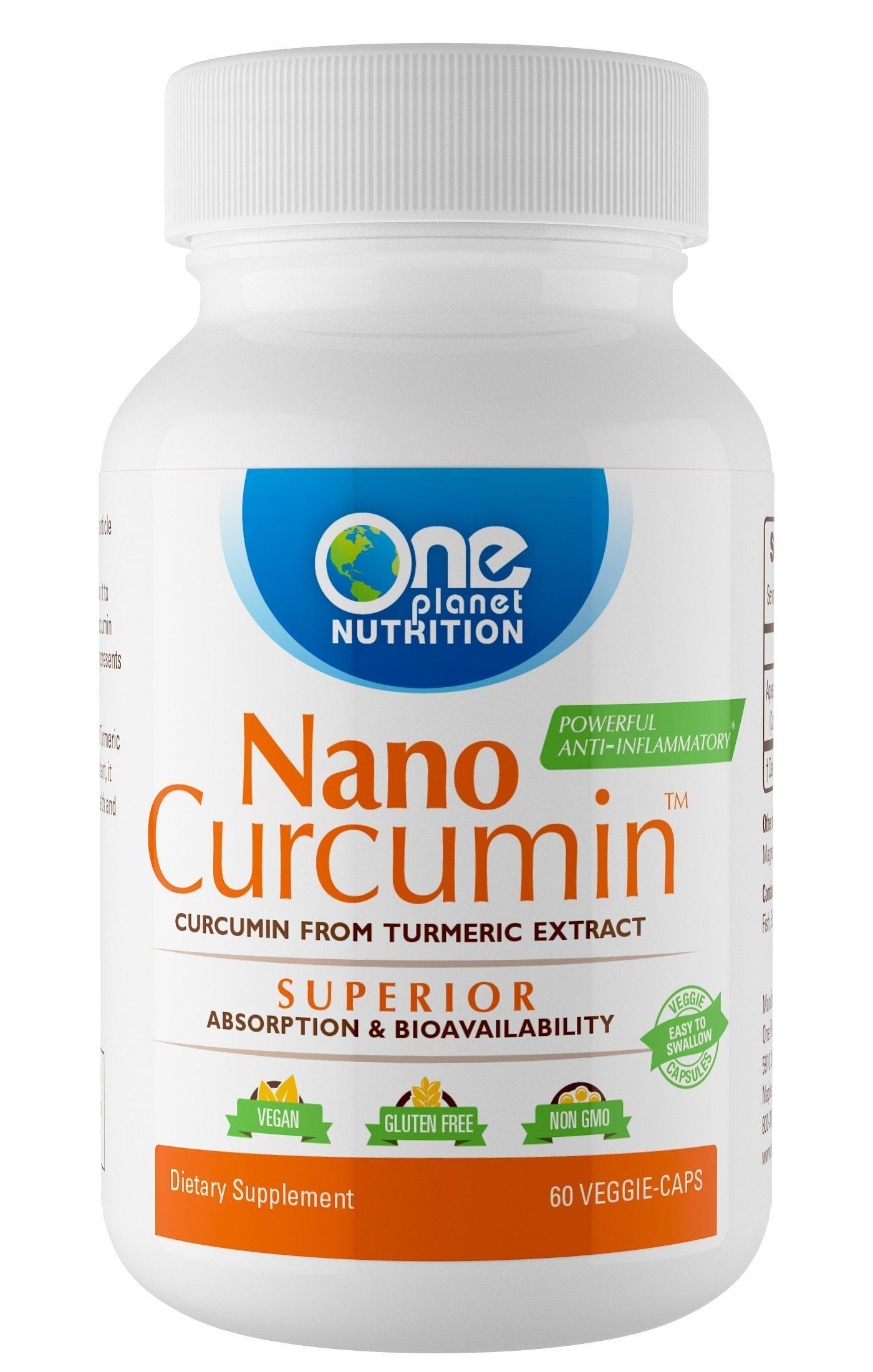 Nano Curcumin - Powerful Anti-inflammatory, Antioxidant, Pain Reliever - 4 MONTH SUPPLY (120 Capsules)
