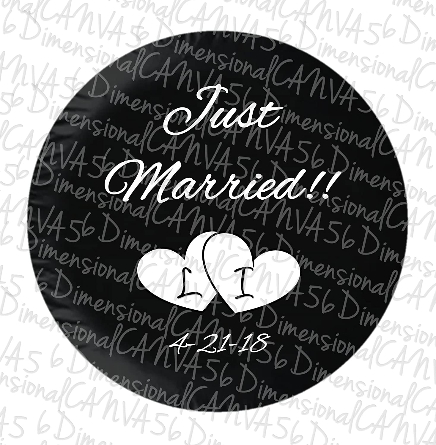 Just Married//Save the Date jeep tire cover