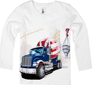 product image for Shirts That Go Little Boys' Long Sleeve Big Blue Cement Mixer Truck T-Shirt