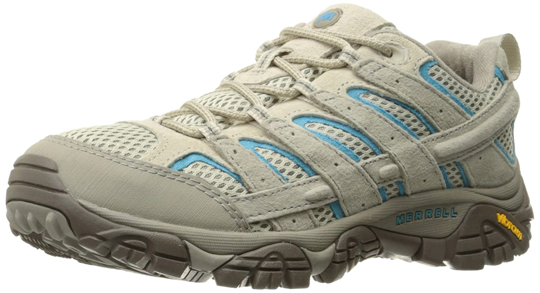 Merrell Women's Moab 2 Vent Hiking Shoe B01N4NZQ9G 9.5 B(M) US|Aluminum/Horizon Blue