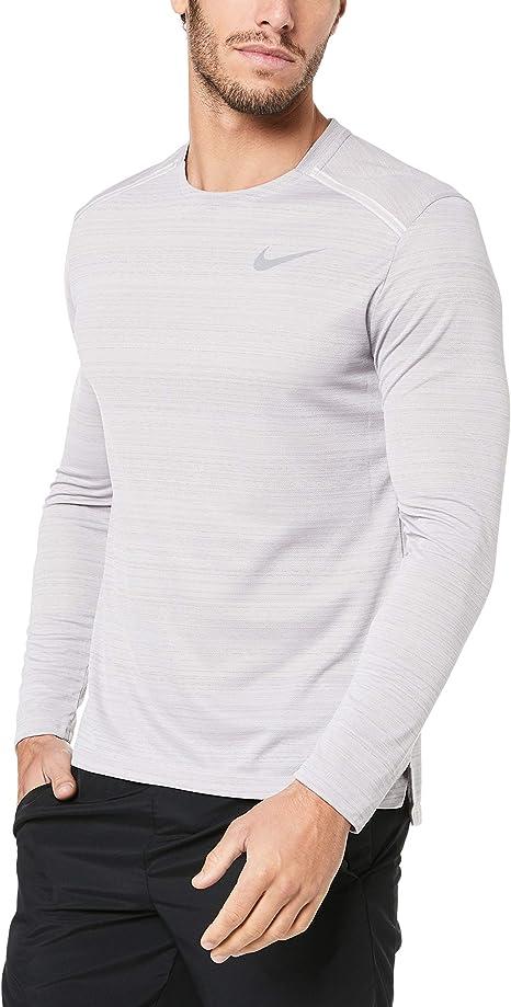 Nike M Nk Dry Miler LS, Maglia a Maniche Lunghe Uomo