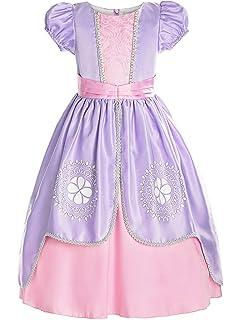 Amazon.com: ReliBeauty Disfraz de princesa para niñas: Clothing