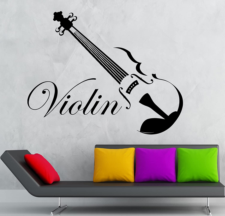 Violin Music Decal Vinyl Sticker Jazz Light Switch Classical Home Decor
