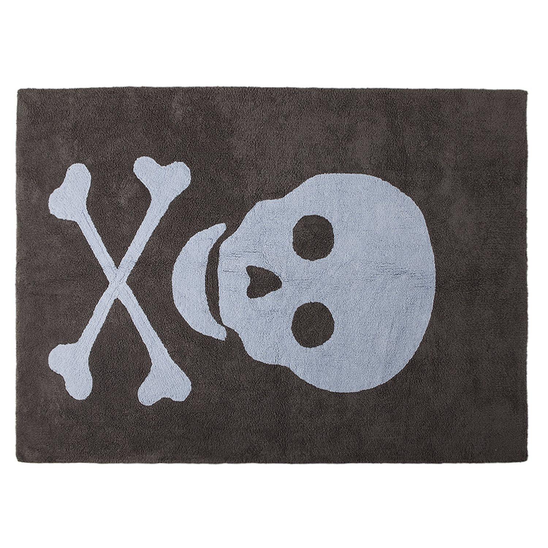 lavable Lorena Canals/ , dise/ño de calavera, color gris oscuro//Azul /Alfombra para beb/é