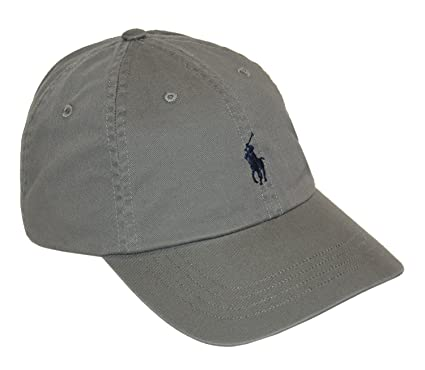 Polo Ralph Lauren Men's Pony Logo Hat Cap, College Grey One Size Adjustable