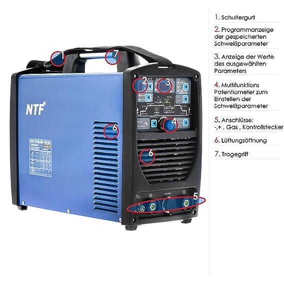 Soldador Inverter TIG IPOTOOLS NTF SUPERTIG 200DI TIG Maquina de Soldar AC DC Unidad de Soldadura con 200 amperios totalmente digital con encendido HF ...