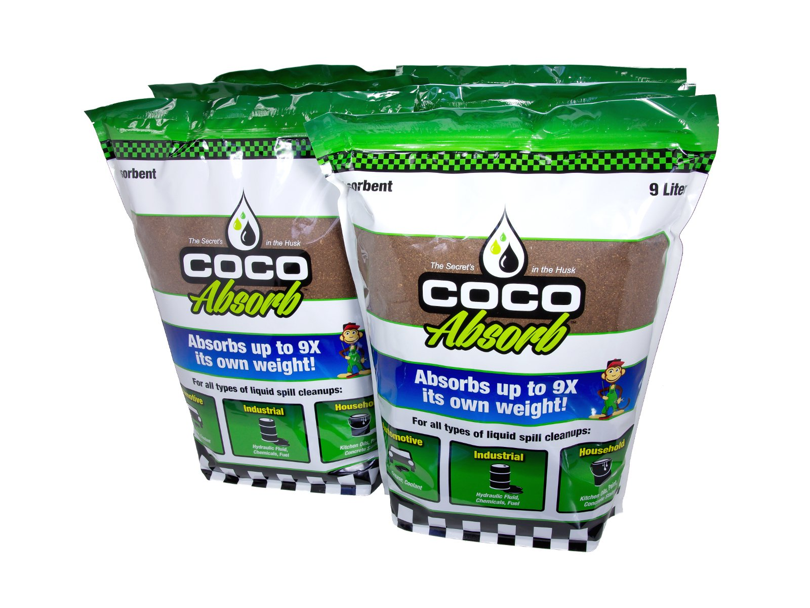 Coco Absorb CCA-09LT-BAG-C-06PK Resealable Bags, 9l (Pack of 6)