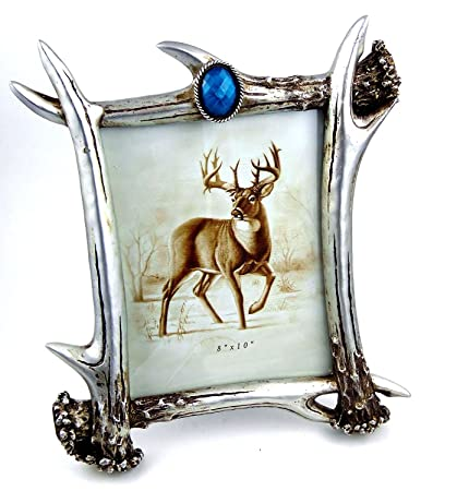Amazoncom Silver Antlers Old West Antique Resin Picture Frame