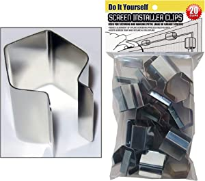 Patio, Lanai and Garage Window Screen Installer Clips (20 Pack Clips)