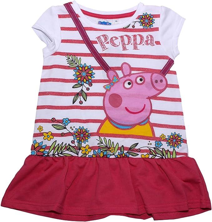 Peppa Pig - Vestido - para niña Rosa Coral 6 años: Amazon.es: Ropa ...