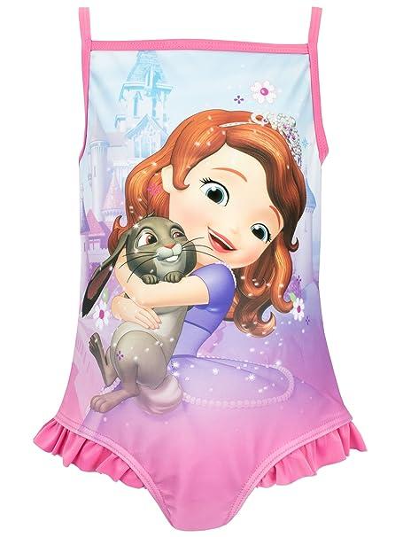 4374e5c63 Disney Sofia the First - Traje de baño para niña - Princesa Sofia - 2 años:  Amazon.es: Ropa y accesorios