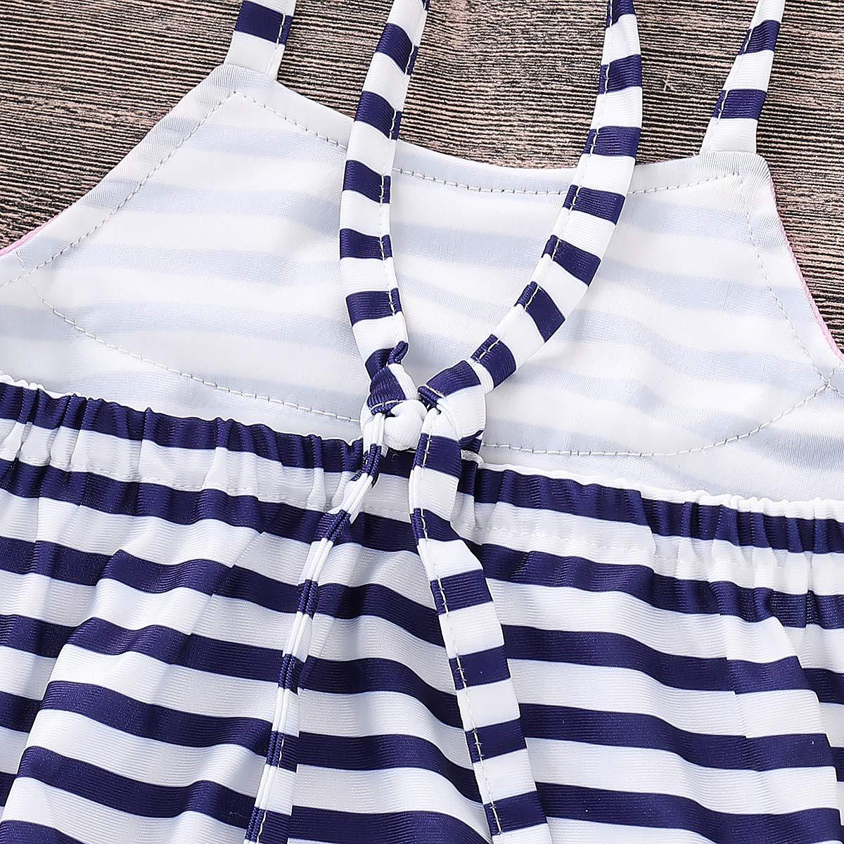 HengShunRui Baby Toddler Girl Stylish Striped Watermelon Strap Swim One-Piece Swimsuit Romper Swimwear Bathing Suit