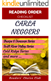 Reading order checklist: Carla Neggers - Series read order: Sharpe & Donovan Series , Swift River Valley Series , Cold Ridge Series   and more!