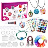 Girls Jewelry Making Kit- Charm Craft Kit for Teens Necklace Pendant Jewelry Gift Set, 16Pcs DIY Crafts Pendants for…