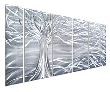 Amazon.com: Pure Art Willow Tree of Life Metal Wall Art, Abstract ...