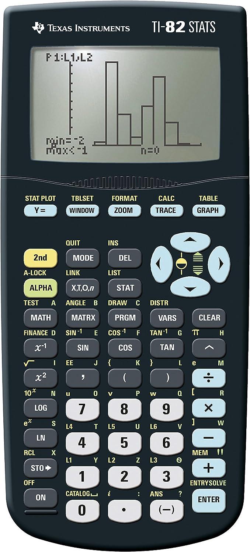 TI 82 STATS Texas Instruments Grafikrechner Taschenrechner grafische Anzeige