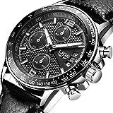 Relojes para Hombres LIGE 2018 Reloj de Lujo de Acero y Cuarzo Regalos de Moda Correa de Acero Inoxidable Deporte Casual Cronómetro Relojes con cronógrafo a Prueba de Agua para