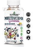 Nutrazee Complete Multivitamin Vegetarian Gummies for Kids, Teenagers, Men, Women, Adults With Essential Vitamins, 45 Gummy Bears