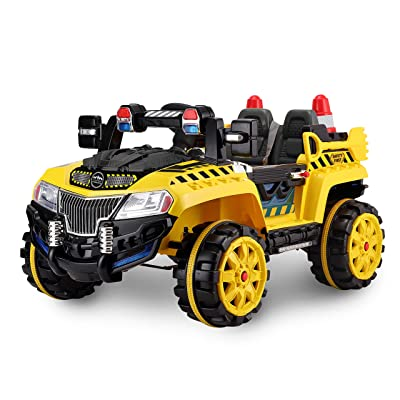 Kid Motorz Construction Car One Seater in Yellow (12V): Toys & Games