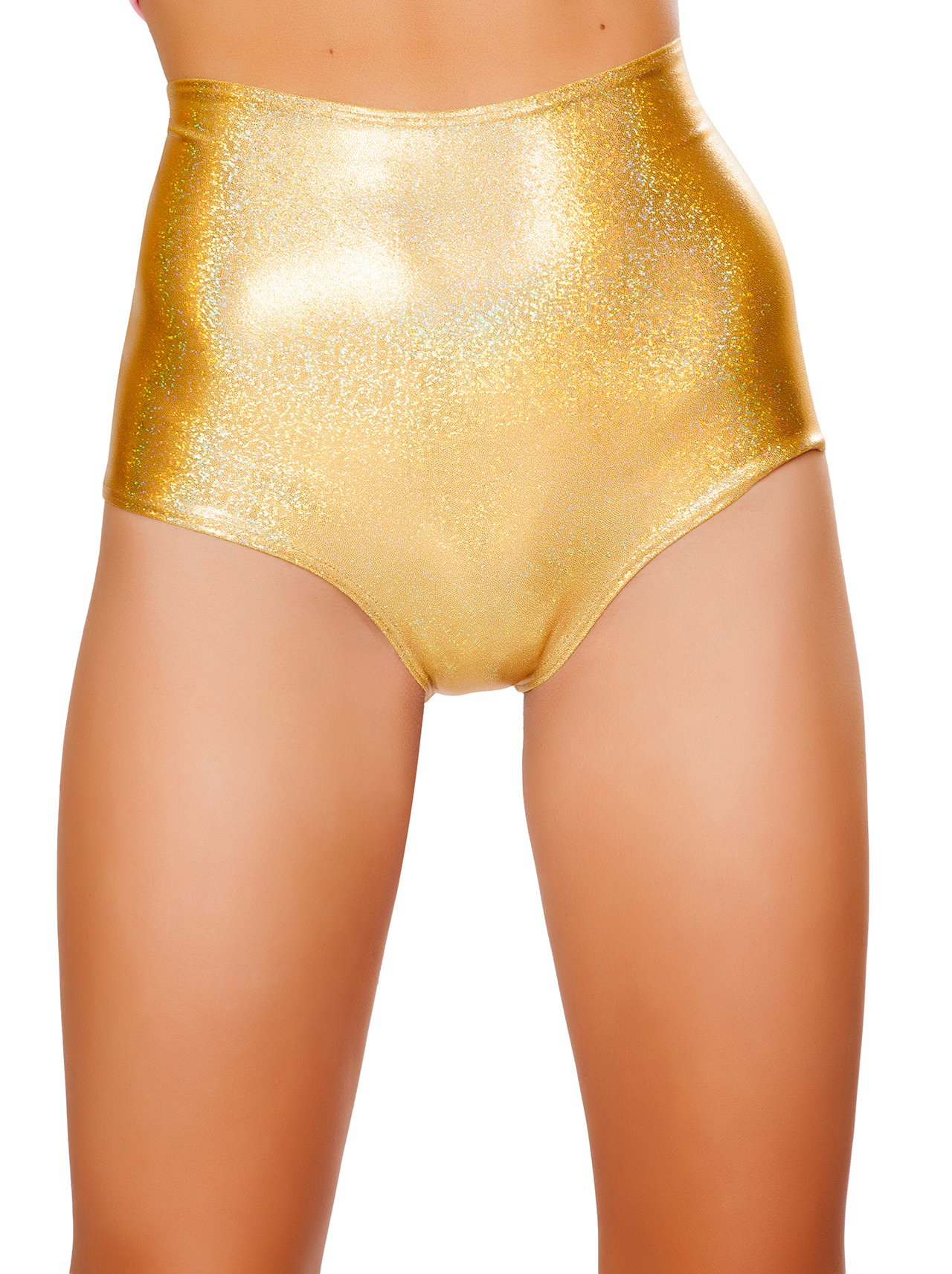 J. Valentine Women's High-Waist Short, Gold, Small/Medium