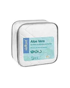 Velfont - Protector de colchón de microfibra Pad/acolchado Aloe Vera Tratamiento Suave y Sedosa: Amazon.es: Hogar