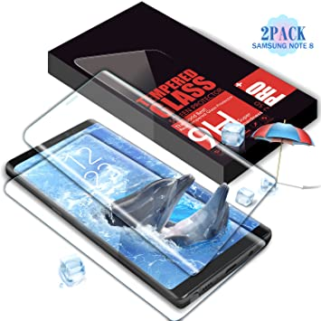 Protector de Pantalla Galaxy Note 8, SGIN (2 Pack) 3D Full Coverage Cristal Templado Protector de Pantalla Anti-rasguños Protector para Samsung Galaxy Note ...