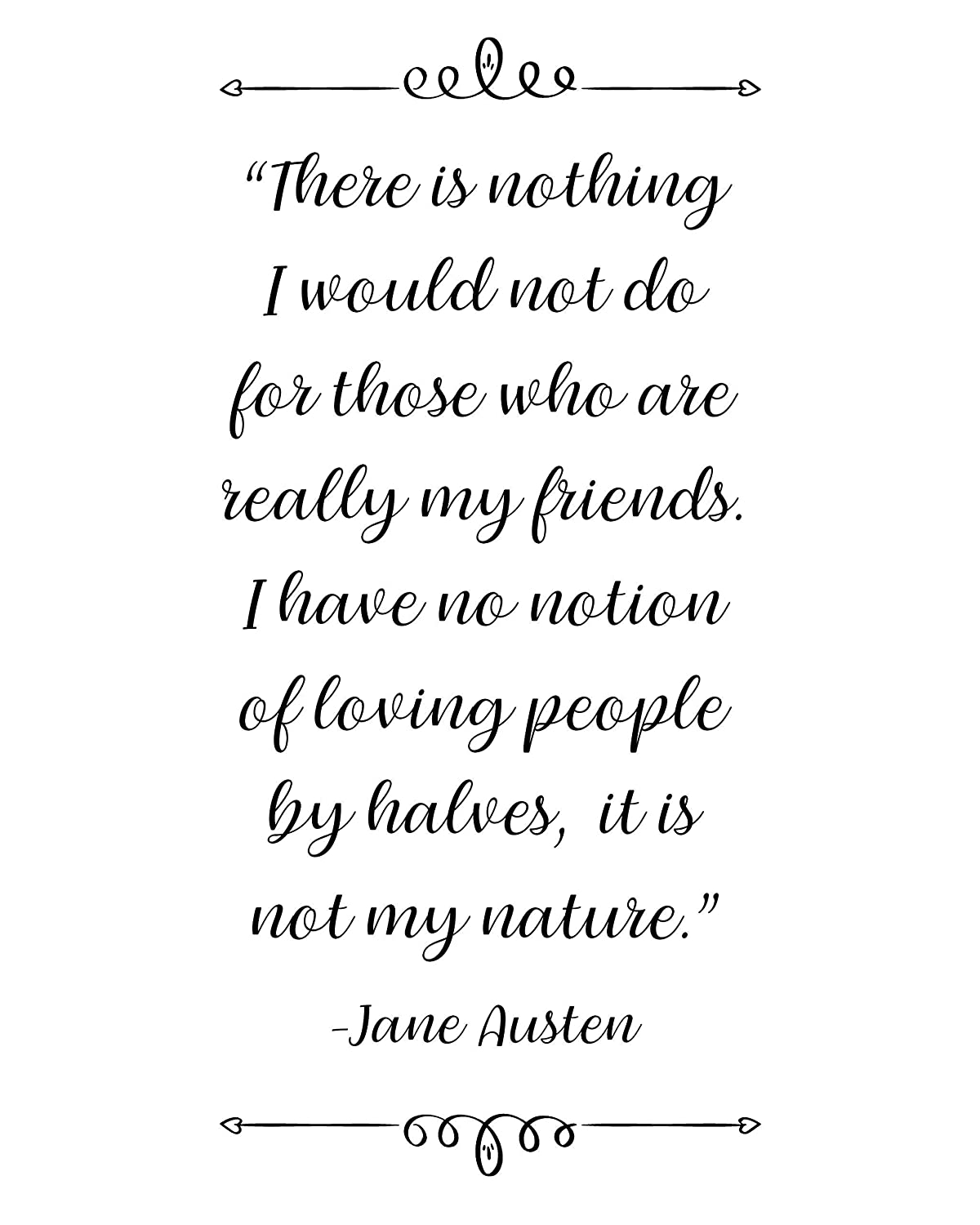 Amazon.com: Jane Austen -There Is Nothing. Quote Wall Art ...