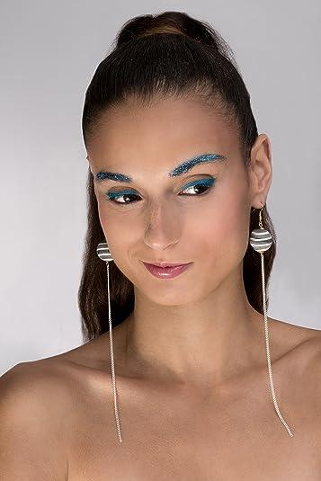 matériaux de haute qualité toujours populaire différemment GEOMETRIQUE Boucle d'oreille Extra longue corne naturelle et ...
