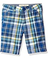 Nautica Boys' Printed Flat Front Short