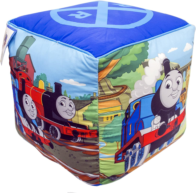 "Mattel Thomas The Tank Engine Fun 12"" Kid's Square Ottoman"