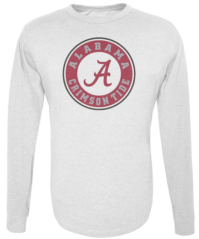 NCAA Alabama Crimson Tide Mens Long Sleeve R-Spun Tee Medium White