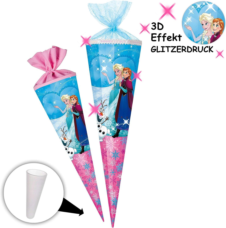rund Disney die Eisk/önigin 2 T/üllabschlu/ß alles-meine.de GmbH Schult/üte 35 cm mit Namen incl individueller /_ gro/ßer Schleife mit // ohne Kunst.. Frozen Zuckert/üte
